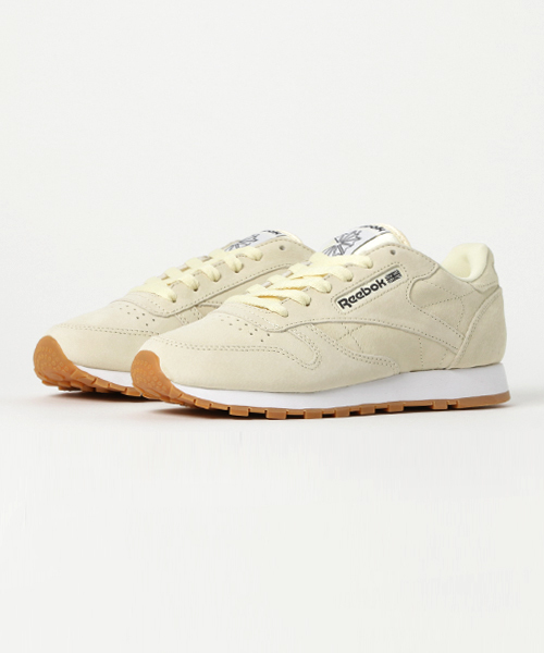 Women's Shoes Reebok Cl Lthr Pastels Washed Yellow Comfort Shoes