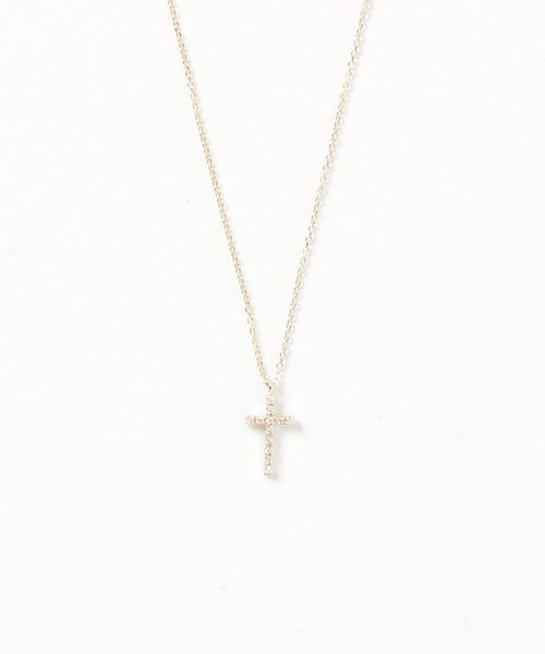 a48381cd91 ete bijoux(エテビジュー)の「K18YG ダイヤモンド ネックレス「クロス」(ネックレス)」 - WEAR