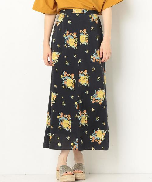 フラワープリントスカート2 ◆