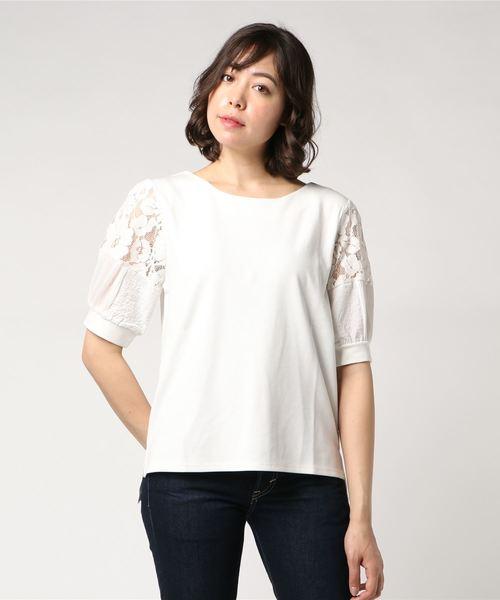 339553f739a32 JEANS FACTORY (ジーンズファクトリー)の「 MAISON DE L ALLURE メゾン ドゥ ラリュール   袖ブロッキングTシャツ(Tシャツ・カットソー)」 - WEAR