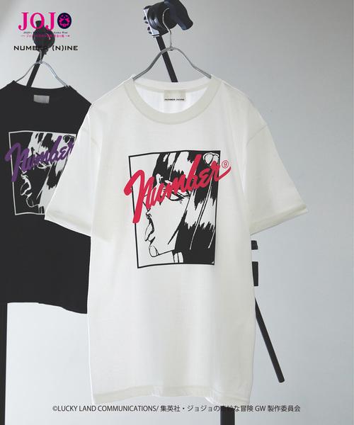 【죠죠의 기묘한 모험×NUMBER (N)INE】블로우 노・ 부차라티 /ex크루 시부 T셔츠/JOJO