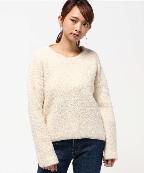 / (and GIRL11月号) (DOUBLE STANDARD CLOTHING) ケーブルニット ダブルスタンダードクロージング