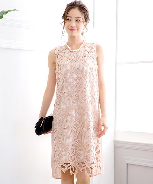 b4683cc1c6d4c Fashion Letter(ファッションレター)の「 結婚式・お呼ばれ対応 フラワーモチーフ ケミカルレースドレス(ドレス)」 - WEAR