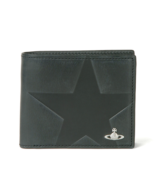 5b11da019255 Vivienne Westwood MAN(ヴィヴィアンウエストウッドマン)の「【スターエンボス】 二つ折り財布【289112  SW0716】(財布)」 - WEAR