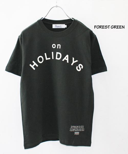 all ordinaries オールオーディナリーズ の holidays半袖t tシャツ