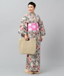 <三勝>ダリア 刷毛目 浴衣