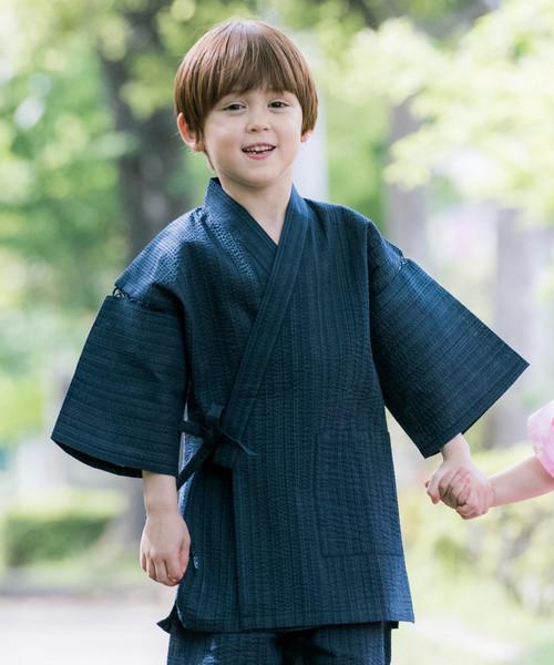 사내 아이 자수 들어감 진베이(여름에 입는 남자 덧옷) KIDS