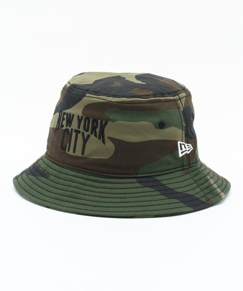 NEW ERA(ニューエラ)の「NEWERA BUCKET-01 HAT NEW YORK CITY WOODLAND CAMO(ハット)」 -  WEAR 995435826352