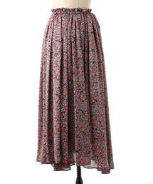 <T-mat Masaki-Paris(ティーマット マサキパリ)>フラワーボリュームスカート