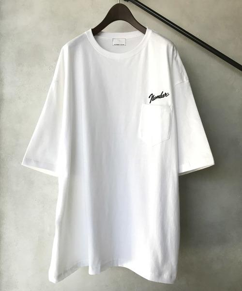 【NUMBER (N)INE】 별주품 Number⑨로고 자수 빅 실루엣 포켓 크루 넥 T셔츠