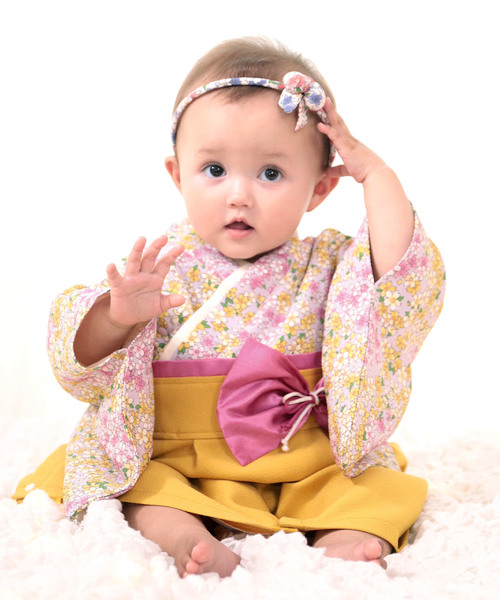 女の子 袴 ロンパース
