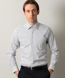 【WORK TRIP OUTFITS】スリム ワイドカラー ロンドンストライプ シャツ