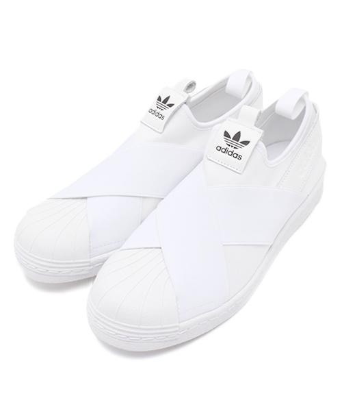 66cd9f6c8490f1 adidas,ADIDAS アディダス SUPERSTAR SLIP ON W スーパースタースリッポン S81338 WHT/WHT/CBK -  WEAR