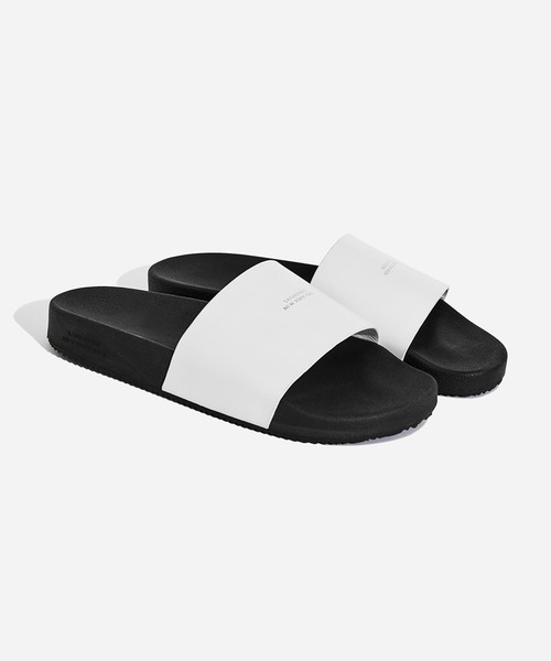 saturdays nyc banya leather slides wear
