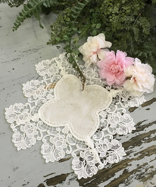 [axes femme 악시즈팜 인테리어잡화] 로즈 레이스 doily