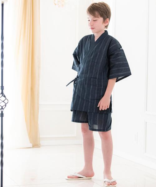 사내 아이 자수 들어감 진베이(여름에 입는 남자 덧옷) JUNIOR