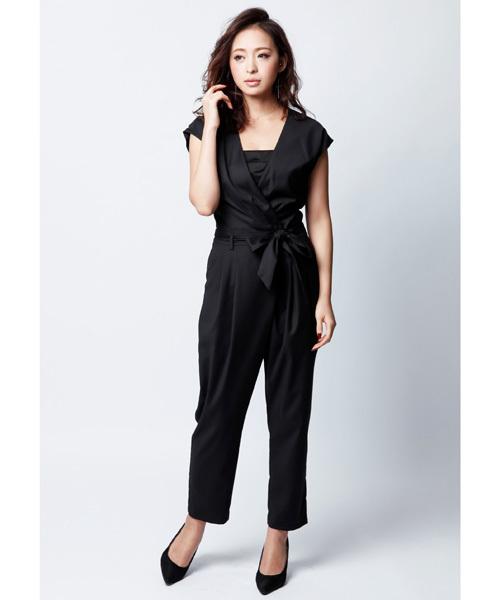 3bac2a22f836f kana(カナ)の「ベアトップ付きカシュクールデザインのオールインワンパンツドレス(つなぎ・オールインワン)」 - WEAR