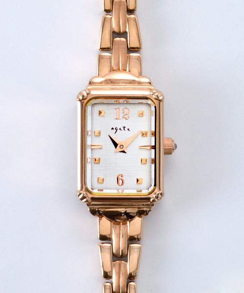3aaaed4955 agete FIRST(アガットファースト)の「スクエアフェイスジュエリーウォッチ 【AGETEF4PG時計】(腕時計)」 - WEAR