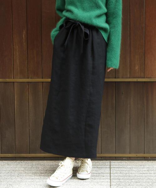 【予約】BY ウエストリボンマキシスカート