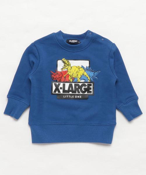 3cedeafe09b3e XLARGE KIDS(エクストララージキッズ)の「カラフル恐竜ロゴトレーナー(スウェット)」 - WEAR