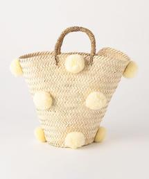 <Fatima Morocco> ポンポン バケツバスケット カゴバッグ