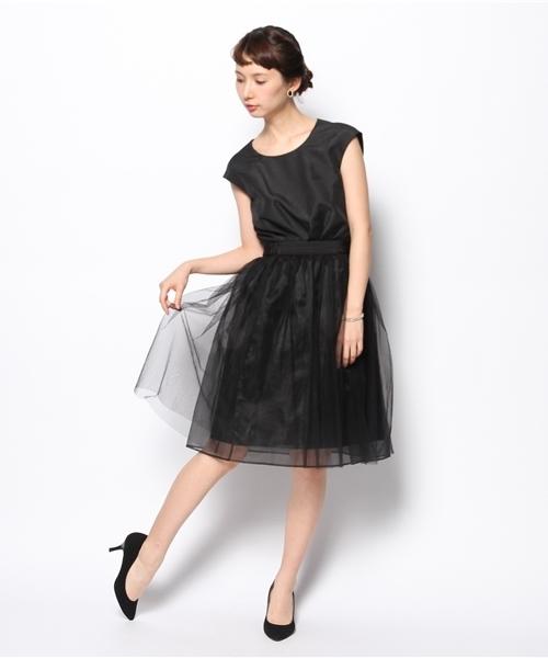 ea86e4bdf1a13 KATHARINE ROSS(キャサリンロス)の「 KATHARINE ROSS  traumerei luxus kleid  ヘリンボンジャガード×チュールワンピース(ドレス)」 - WEAR