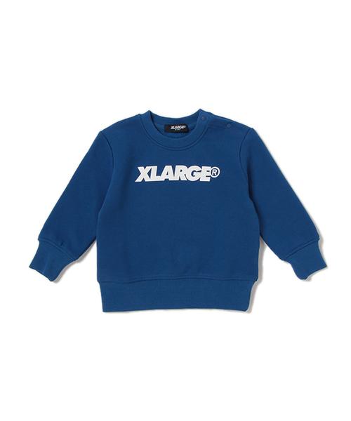 16b1f8737038b XLARGE KIDS(エクストララージキッズ)の「ロゴ×裏起毛長袖トレーナー(スウェット)」 - WEAR