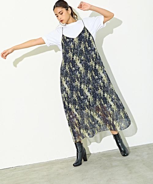 SMF フラワープリント キャミソールワンピース / 花柄