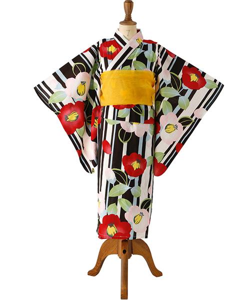 레트로 일본 무늬 유카타 KIDS