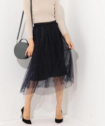 SMF ラメWチュール スカート