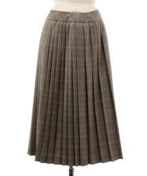 Drawer チェックプリーツラップスカート