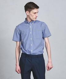 UADT イージーケア ギンガムチェック ボタンダウンシャツ