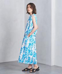 <SACRA(サクラ)>NEGA フラワープリントスカート