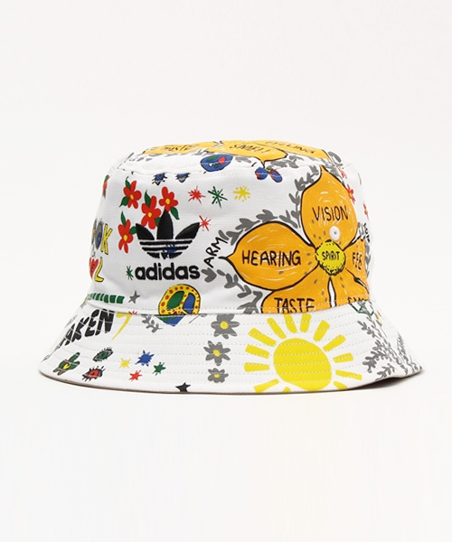「 adidas Originals   PHARRELL WILLIAMS リバーシブルハット STRANDED BUCKET HAT 」 0ec57beeb