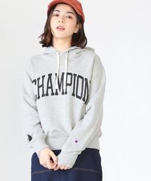 【別注】Champion (チャンピオン) × coen (コーエン) オリジナルロゴスウェットパーカー