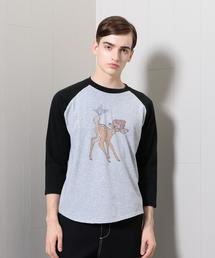<South for F>BAMBI BASEBALL GRAY T-SHIRT/Tシャツ
