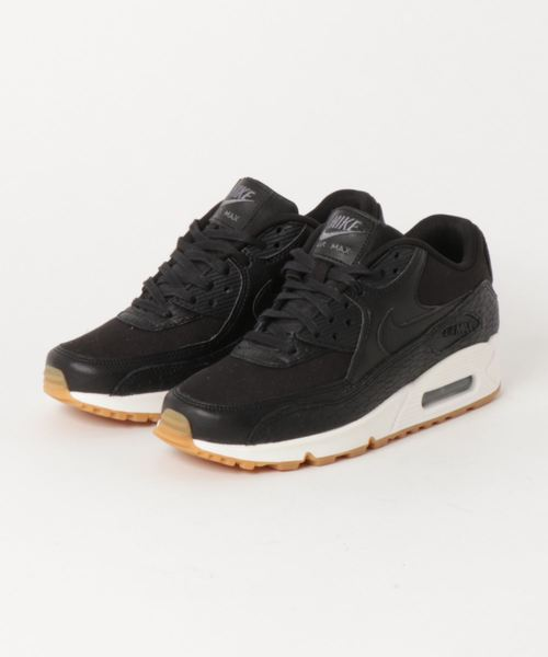 new arrival e0b74 2fd6e NIKE(ナイキ)の「NIKE WMNS AIR MAX 90 PRM LEA (BLACK BLACK-DARK GREY-IVORY) SP (スニーカー)」  - WEAR