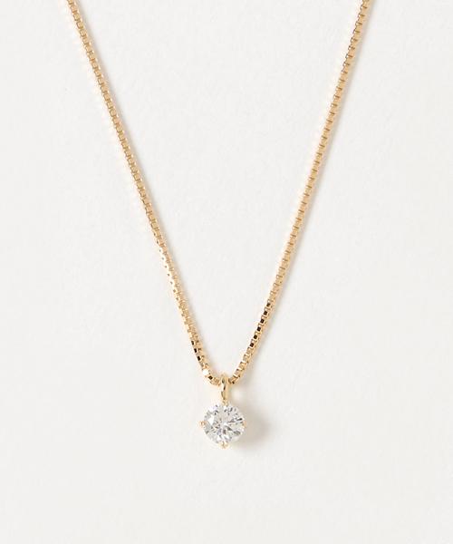 1254002992 ete bijoux(エテビジュー)の「 K18YG ダイヤモンド ネックレス 0.15ct(ネックレス)」 - WEAR