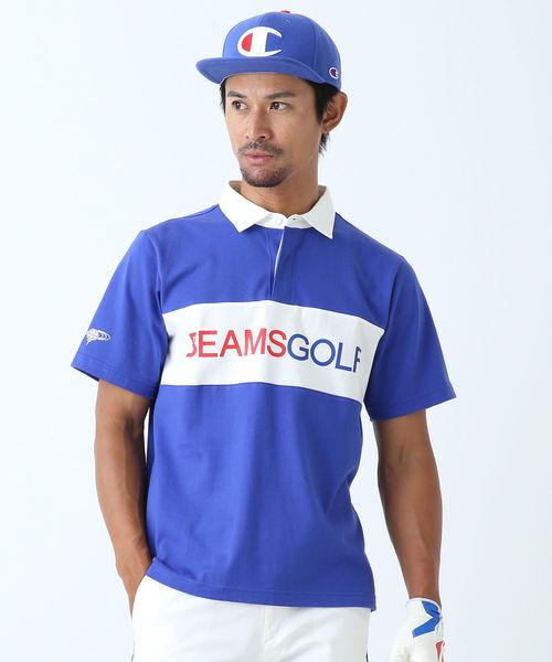 ▲BEAMS GOLF ORANGE LABEL / 변환 rugger 셔츠