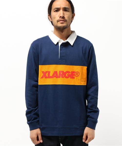 b20505112e4e5 XLARGE(エクストララージ)の「L/S RUGBY SHIRT(ポロシャツ)」 - WEAR