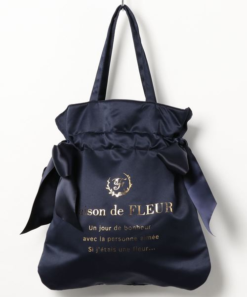 [Maison de FLEUR 메종드플뢰르] 더블 리본 토트백