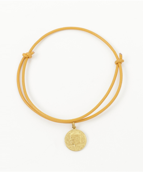 ��l#�+GG�_lugg nagg的「【the fuols】brass coin leather bracelet/anklet
