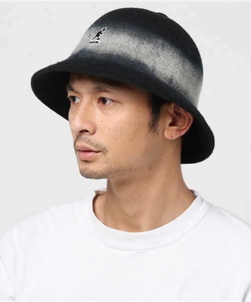 e293dc7d2ea KANGOL(カンゴール)の「KANGOL BUCKET HAT ARTISAN CASUAL BLACK ...