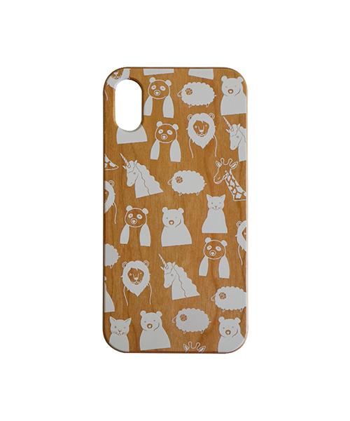 012306d32f FRAPBOIS(フラボア)の「【iPhoneXS/X対応 背面ケース】FRAPBOIS(フラボア)×Gizmobies/WOOD ZOO WHITE( モバイルケース/カバー)」 - WEAR