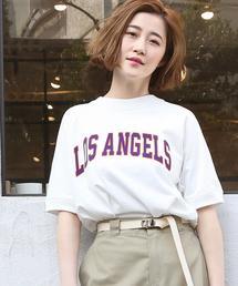 USAコットンラグランスリーブロゴTシャツ