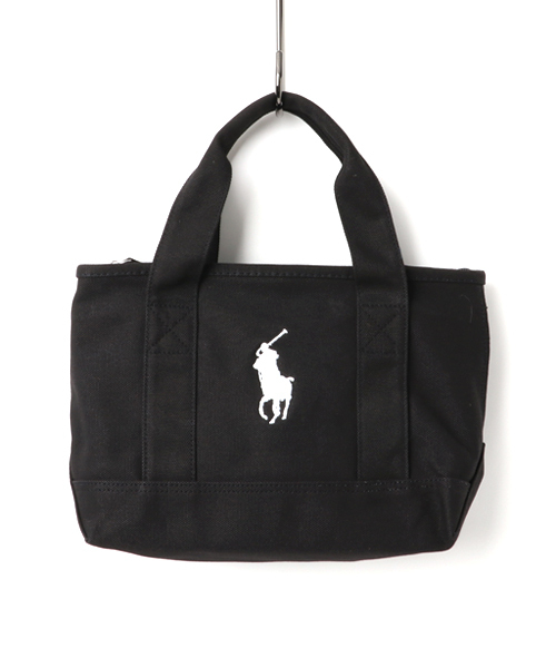 cf725b5bc9a78 POLO RALPH LAUREN(ポロラルフローレン)の「ポロラルフローレン キャンバス ミニトートバッグ POLO PONY TOTE SM  RA1000(トートバッグ)」 - WEAR