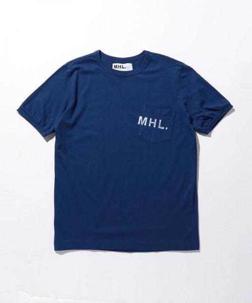 【別注】 <MHL.> UNIFORM LOGO TEE/Tシャツ