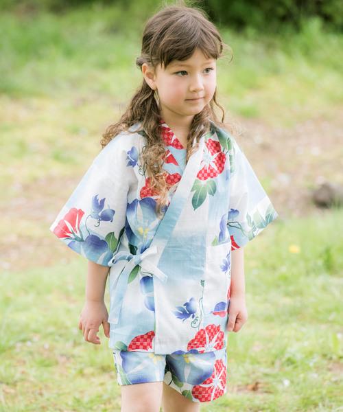 레트로 모던 일본 무늬 진베이(여름에 입는 남자 덧옷) KIDS