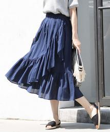ボイルマーメイドロングスカート