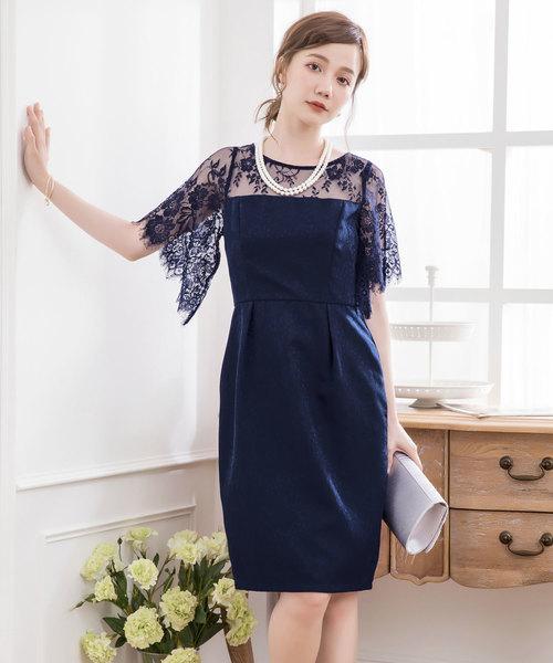 29ed589dd977f DRESS STAR(ドレス スター)の「デコルテレースドッキングパーティードレス(ドレス)」 - WEAR